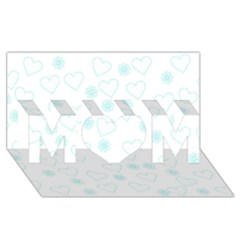 Flowers And Hearts MOM 3D Greeting Card (8x4)