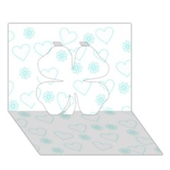 Flowers And Hearts Clover 3D Greeting Card (7x5)