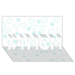 Flowers And Hearts #1 MOM 3D Greeting Cards (8x4)