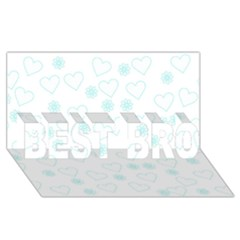 Flowers And Hearts BEST BRO 3D Greeting Card (8x4)