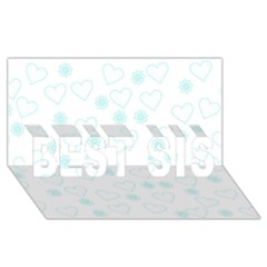Flowers And Hearts Best Sis 3d Greeting Card (8x4)