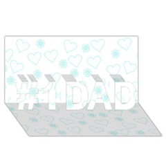 Flowers And Hearts #1 DAD 3D Greeting Card (8x4)