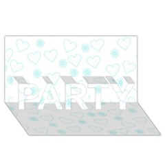 Flowers And Hearts PARTY 3D Greeting Card (8x4)