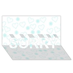 Flowers And Hearts Sorry 3d Greeting Card (8x4)