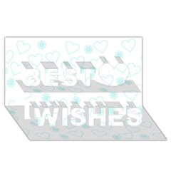 Flowers And Hearts Best Wish 3D Greeting Card (8x4)