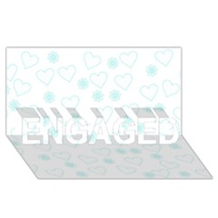 Flowers And Hearts Engaged 3d Greeting Card (8x4)