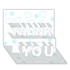 Flowers And Hearts Thank You 3d Greeting Card (7x5)
