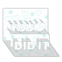 Flowers And Hearts You Did It 3d Greeting Card (7x5)