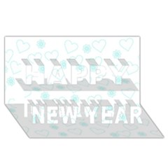 Flowers And Hearts Happy New Year 3D Greeting Card (8x4)