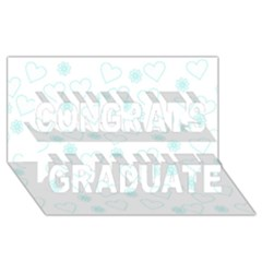 Flowers And Hearts Congrats Graduate 3d Greeting Card (8x4)