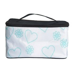 Flowers And Hearts Cosmetic Storage Cases