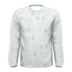 Flowers And Hearts Men s Long Sleeve T-shirts