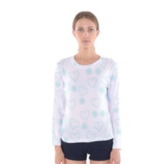 Flowers And Hearts Women s Long Sleeve T-shirts