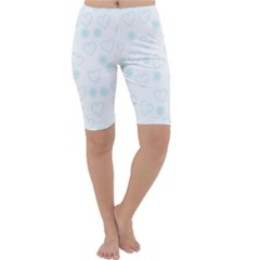Flowers And Hearts Cropped Leggings
