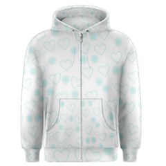 Flowers And Hearts Men s Zipper Hoodies