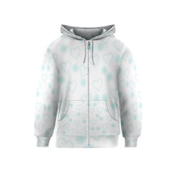 Flowers And Hearts Kids Zipper Hoodies