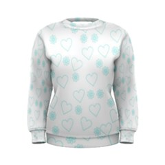 Flowers And Hearts Women s Sweatshirts