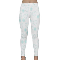 Flowers And Hearts Yoga Leggings