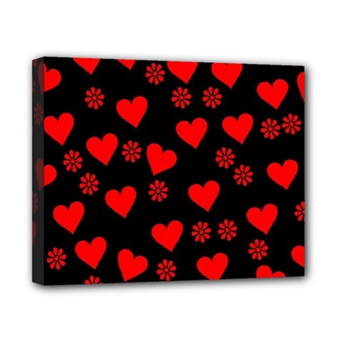 Flowers And Hearts Canvas 10  x 8