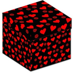 Flowers And Hearts Storage Stool 12