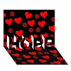 Flowers And Hearts Hope 3d Greeting Card (7x5)