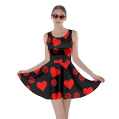 Flowers And Hearts Skater Dresses
