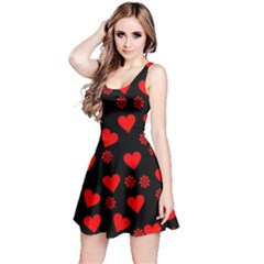 Flowers And Hearts Reversible Sleeveless Dresses