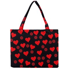 Flowers And Hearts Tiny Tote Bags