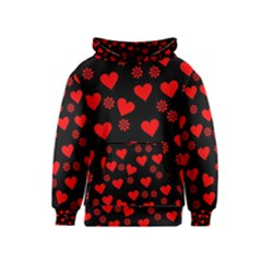 Flowers And Hearts Kid s Pullover Hoodies