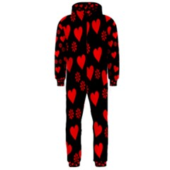 Flowers And Hearts Hooded Jumpsuit (Men)