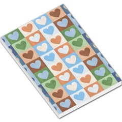 Hearts Plaid Large Memo Pads