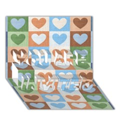 Hearts Plaid You Are Invited 3d Greeting Card (7x5)