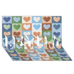 Hearts Plaid BEST BRO 3D Greeting Card (8x4)