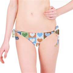 Hearts Plaid Bikini Bottoms
