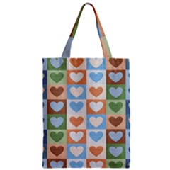 Hearts Plaid Classic Tote Bags
