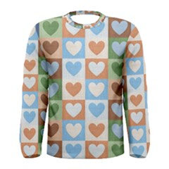 Hearts Plaid Men s Long Sleeve T-shirts