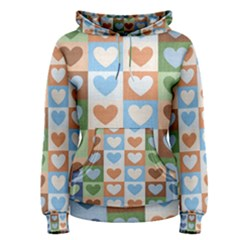 Hearts Plaid Women s Pullover Hoodies