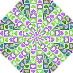 Hearts Plaid Purple Hook Handle Umbrellas (small)