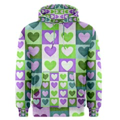 Hearts Plaid Purple Men s Pullover Hoodies