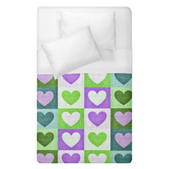 Hearts Plaid Purple Duvet Cover Single Side (single Size)
