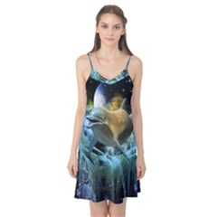 Funny Dolphin In The Universe Camis Nightgown