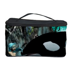 Cute Mermaid Playing With Orca Cosmetic Storage Cases