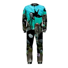 Cute Mermaid Playing With Orca OnePiece Jumpsuit (Kids)