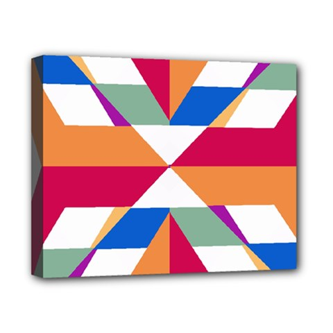 Shapes in triangles Canvas 10  x 8  (Stretched)