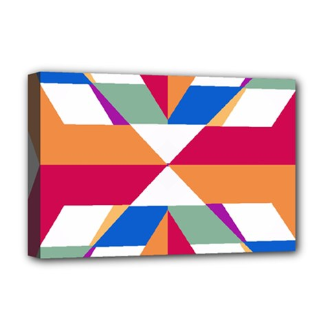 Shapes in triangles Deluxe Canvas 18  x 12  (Stretched)