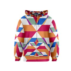 Shapes in triangles Kids Zipper Hoodie