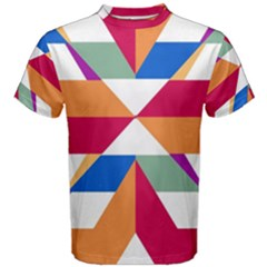 Shapes In Triangles Men s Cotton Tee