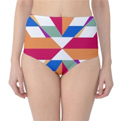 Shapes in triangles High-Waist Bikini Bottoms