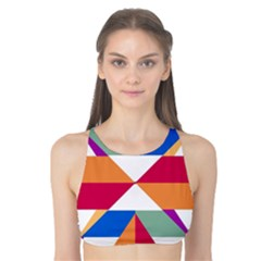 Shapes In Triangles Tank Bikini Top