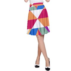 Shapes in triangles A-line Skirt